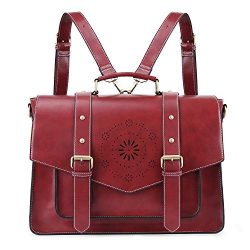 ECOSUSI Women's Briefcase Messenger Laptop Bag PU Leather Satchel Work Bags Fits 15.6 inch ...