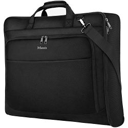 Travel Garment Bag, Large Carry on Garment Bags with Strap for Business, Waterproof Hanging Suit ...