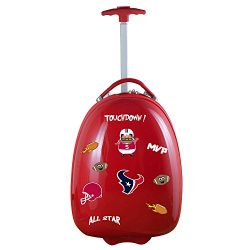 Denco NFL Houston Texans Kids Lil' Adventurer Luggage Pod, 18-inches, Red