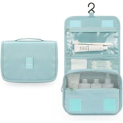 Toiletry Bag,Mossio Lightweight Canvas Bathroom Organizer Travel Essentials Handbag Sky Blue