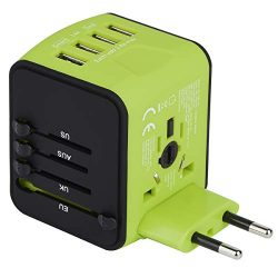 Universal Travel Adapter, Castries All-in-one Worldwide Travel Charger Travel Socket, Internatio ...