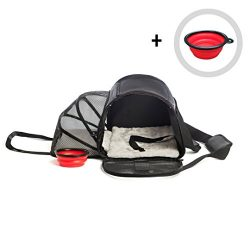 Pet Carrier for Dogs or Cats | Airline Approved Carrying Travel Bag Under Seat, Expandable, Soft ...