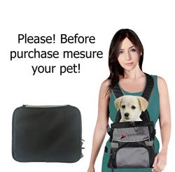 Front Dog Cat Pet Carrier, Dog Backpack Bag by Eugene's. Free Your Hands. Use as: Dog Carr ...