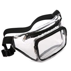 Fanny Pack, Veckle Clear Fanny Pack Waterproof Cute Waist Bag NFL Stadium Approved Clear Purse T ...