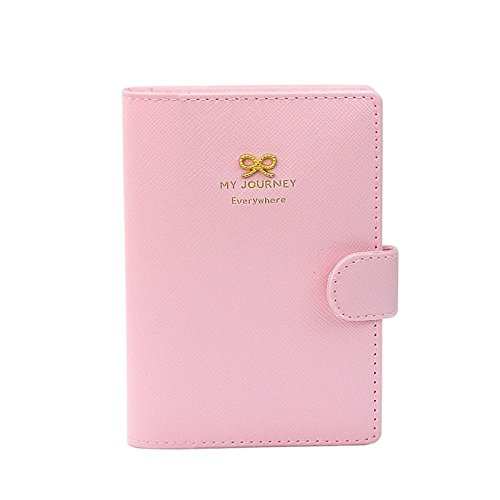 Tonsee Travel Organizer Passport Holder Protector Cover Card Wallet Case (Pink #)