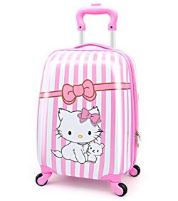 LeLeTian Kids Luggage Hardshell Lightweight Adjustable Handle Rolling Carry On Suitcase For Age  ...