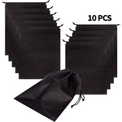 Set of 10 Jumbo Shoe bags for travel waterproof Non-Woven with rope for men and women Large shoe ...