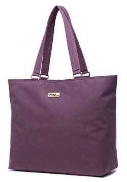 NNEE 15 15.6 Inch Water Resistance Nylon Laptop Tote Bag Computer Travel Carrying Bag – Purple