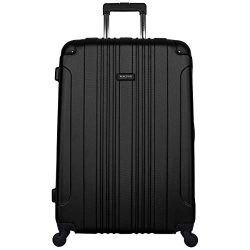 Kenneth Cole Reaction Out Of Bounds Hardside Spinner 28″ 4-Wheel Checked Luggage, Black