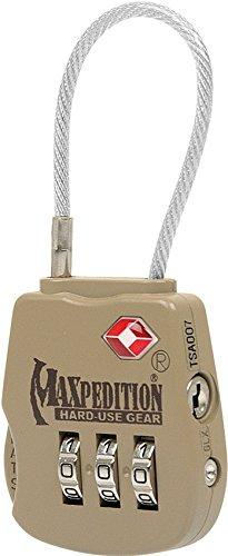 Maxpedition Gear Tactical Luggage Lock, Khaki