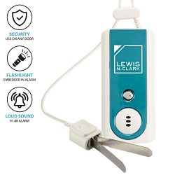 Lewis N Clark Travel Door Alarm + Window Guard Portable Home Security System Battery Operated fo ...