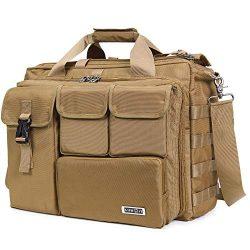 Lifewit 17″ Men's Military Laptop Messenger Bag Multifunction Tactical Briefcase Com ...