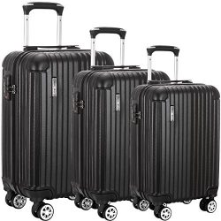 Luggage set Suitcase ABS 3 Piece with TSA Lock Spinner 20in24in28in