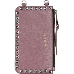 Bandolier [Sarah] Pouch Bag Attachment in Iris Leather w/Silver Studs. Small Travel Friendly Pur ...