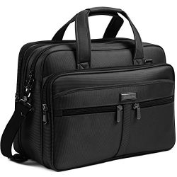 BOSTANTEN 17 inch Laptop Bag Case Expandable Briefcases for men Hybrid Computer Water Resisatant ...