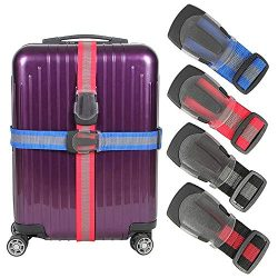 Luggage Straps Suitcase Belt TSA Approved With Adjustable Quick-release Buckle,Nonslip Travel St ...
