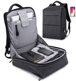 JUMO 17 inch Travel Laptop Backpack,Business Anti Theft Slim Durable Laptops Backpack USB Chargi ...