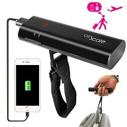 OAXIS AirScale Digital Luggage Scale with 6500mAh Fast Charge Power Bank (LG Battery Cell ), Por ...