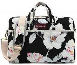 Canvaslove Lotus Pattern 15 inch Waterproof Laptop Shoulder Messenger Bag Case with Rebound Bubb ...