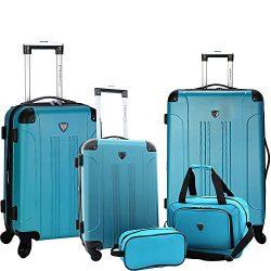 Travelers Club Luggage Chicago Plus 5pc Expandable Luggage Set, Teal