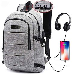 Laptop Backpack for School Travel, Fits 15.6in Computer Durable Casual Anti Theft Backpack Trave ...