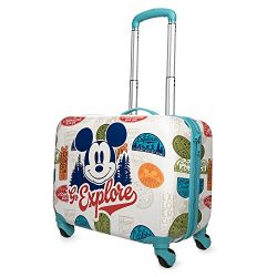 "Disney Mickey Mouse ""Go Explore"" Rolling Luggage"