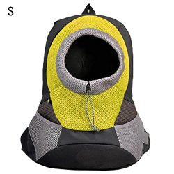 Poetryer Pet Backpack Breathable Portable Adjustable Mesh for Travel Outdoor Easy to Carry Five  ...