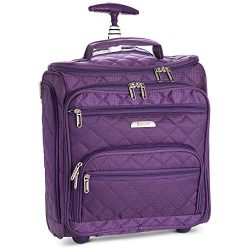 16.5″ Underseat Women Luggage Carry On Suitcase – Small Rolling Tote Bag with Wheels ...