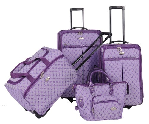 American Flyer Luggage Signature 4 Piece Set, Light Purple, One Size