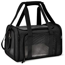 Henkelion Pet Dog Cat Carrier Airline Approved Pet Carriers Collapsible Dog Travel Crate for Sma ...
