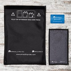 Armadillo Pro-Tec Faraday Bags and RFID Blocking Wallet Card (3 Pc. Set) Protect Cell Phones, Ca ...
