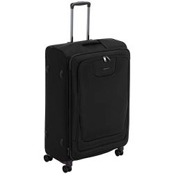 AmazonBasics Premium Expandable Softside Spinner Luggage With TSA Lock- 29 Inch, Black