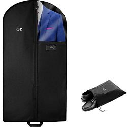 Luxury Garment Bag Cover & Shoe Bag | 47 Inch + 5 Inch Gusset | Men Suit, Dress, Coat, Jacke ...