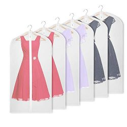 Univivi Hanging Garment Bag 43 inch Suit Bag for Storage(Set of 6) Anti-Moth Protector, Washable ...