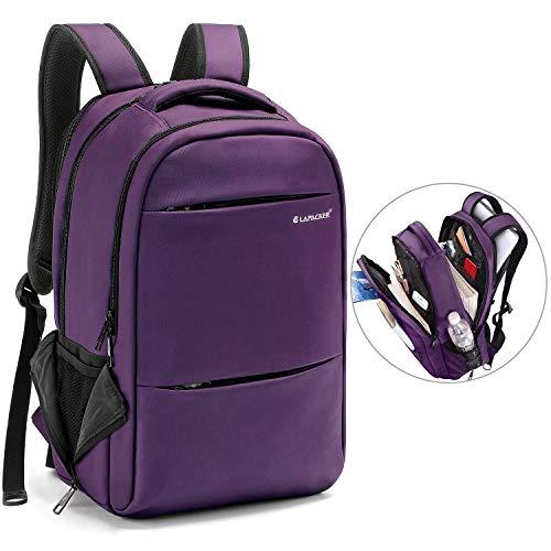 LAPACKER 15.6-17 inch Business Laptop Backpacks for Women Mens Water Resistant Laptop Travel Bag ...