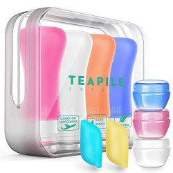 9 Pack Travel Bottles TSA Approved Containers, 3oz Leak Proof Travel Accessories Toiletries,Trav ...