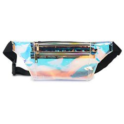 Mum's memory Holographic Fanny Pack for Women – Metallic Sport Waist Pack for Men fo ...