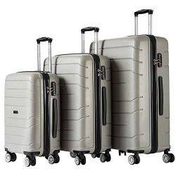 Luggage Sets Hard Suitcase Set Suitcases 3 Piece Set with TSA Lock Spinner