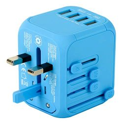 Upgraded Universal Travel Adapter, Castries All-in-one Worldwide Travel Charger Travel Socket, I ...
