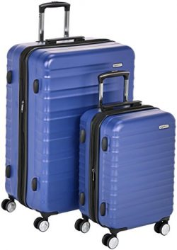 AmazonBasics Premium Hardside Spinner Luggage with Built-In TSA Lock – 2-Piece Set (20&#82 ...