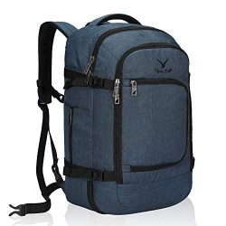 Hynes Eagle Travel Backpack 40L Flight Approved Carry on Backpack Blue 2018