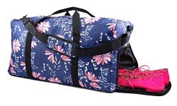 Women's Travel Duffel Bag with Shoe Pocket. Versatile as a Weekender or Overnight bag. Car ...