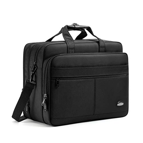 18-18.5 inch Laptop Bag,Water Resisatant Business Laptop Briefcase,Expandable High Capacity Shou ...