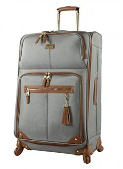 Steve Madden Luggage Large 28″ Expandable Softside Suitcase With Spinner Wheels (28in, Har ...