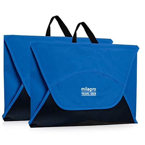 """Packing Folders for Travel: 18"""" Garment Folder & Wrinkle-Free Dress Shirt Organizer (Blue &# ..."""