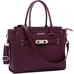 Laptop Bag for Women,15.6 Inches Multi Pocket Padded Laptop Tote Bag,Padlock Design Computer Bag ...