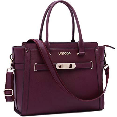 Laptop Bag for Women,15.6 Inches Multi Pocket Padded Laptop Tote Bag,Padlock Design Computer Bag ...