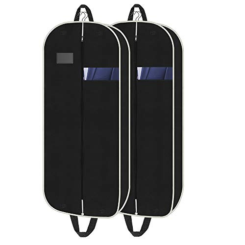 Orange Tech 43″ Gusseted Travel Garment Bag(2 Packs), Foldable Suit Cover with Zipper &amp ...