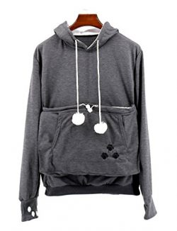 NeuFashion Pet Cat Dog Kangaroo Pouch Hoodies Pullover Sweater Pocket Hoodie Cat Dog Holder Carr ...