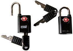 Lewis N. Clark Travel Sentry TSA Lock + Mini Padlock for Luggage Suitcase, Carry On Backpack, La ...